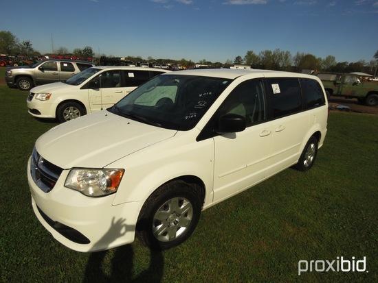 2012 Dodge Caravan, s/n 2C4RDGBG0CR138789: 4-door, Odometer Shows 106K mi.