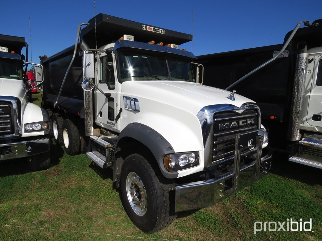 2018 Mack Granite GU713 Tri-axle Dump Truck, s/n 1M2AX07C6JM040055 (Title D