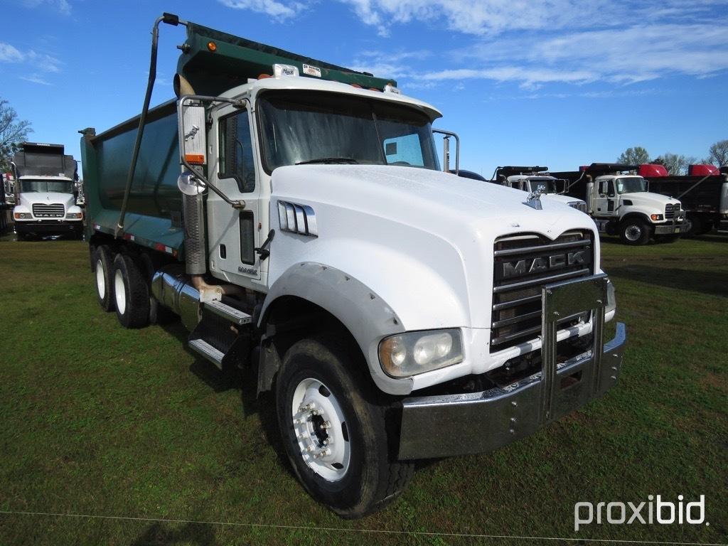 2011 Mack GU713 Tandem-axle Dump Truck, s/n 1M2AX04C9BM010232: MP7-405hp En
