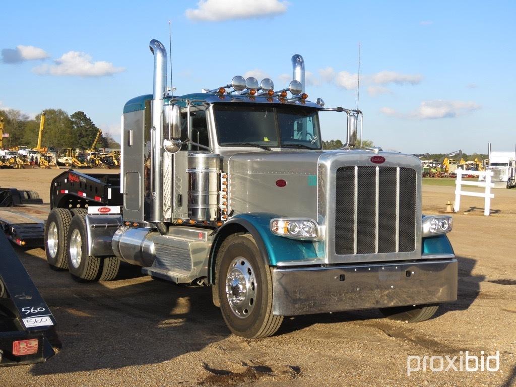 2018 Peterbilt 389 Truck Tractor, s/n 1XPXD49XXJD465713: Cummins Eng., 18-s