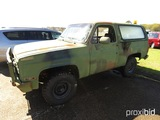 1984 Chevy K5 Blazer, s/n 1G8ED18J7EF115433 (No Title - Bill of Sale Only):