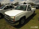 2005 Chevy 1500 Pickup, s/n 1GCEC14V95Z208762: Gas, Auto, 2wd, SWB, Odomete