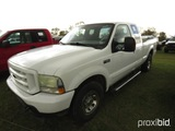 2004 Ford F250 Pickup, s/n 1FTNX20L44EE08100: Ext. Cab 4-door, Auto, Tool B