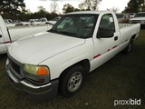 2003 GMC Sierra Pickup, s/n 1GTEC14V43Z239270 (Hail Damaged Title): Odomete