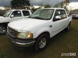 2002 Ford F150 Pickup, s/n 1FTRW07632KD44185: 4-door, Triton V8, Auto, Odom