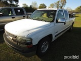2000 Chevy 1500 Pickup, s/n 2GCEC19T7Y1289815: Ext. Cab 4-door, Auto, Fuel