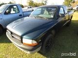 1999 Dodge Dakota Pickup, s/n 1B7GL22X9XS174465: Ext. Cab, Odometer Shows 1