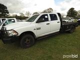 2013 Dodge Ram 3500 4WD Flatbed Truck, s/n 3C7WRTCL4DG529348: Cummins 6.7L