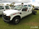 2010 Ford F350 Cab & Chassis, s/n 1FTWW3CY8AEA59717: V10 Eng., 4-door, Odom