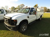 2008 Ford F350XL Truck, s/n 1FDSR35558ED80198: 2wd, Reading Utility Bed, La