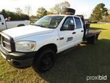 2007 Dodge 3500 Flatbed Truck, s/n 3D6WH48A47G791222: 4-door, Cummins Diese