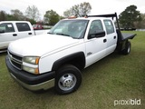 2006 Chevy 3500 Flatbed Truck, s/n 1GBJC33D26F151525 (Not Actual Miles): Du
