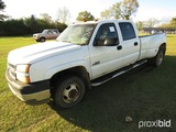 2005 Chevy 3500 Truck, s/n 1GCJK332X5F904505: Duramax Diesel, Auto, 4-door,