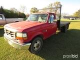 1995 Ford F350 Flatbed Truck, s/n 1FDJF37HXSNA37090: 60K mi. on Replaced 5.