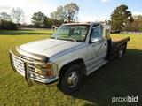 1992 Chevy Silverado 3500 Flatbed Truck, s/n 1GBJC34N2NE140729: Auto, Odome