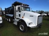 2015 Kenworth T800 Tri-axle Dump Truck, s/n 1NKDL40X5FR471299: Cummins ISX1