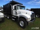 2012 Mack GU713 Tri-axle Dump Truck, s/n 1M1AX04YXCM012640: Mack MP7405M 40