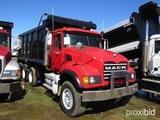 2007 Mack Granite CV713 Tri-axle Dump Truck, s/n 1M2AG11C67M058109 (Title D