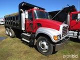 2007 Mack CV713 Dump Truck, s/n 1M1AG11Y67M060202: Maxitorque Trans., P/S,