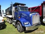 2007 Kenworth T800 Tri-axle Dump Truck, s/n 1NKDXBTX37J142024: Cat 475 Eng.