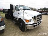 2011 Ford F650XL Flatbed Dump Truck, s/n 3FRNF6FB8BV595709: S/A, Auto, 24