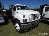 1999 GMC C7500 Flatbed Dump Truck, s/n 1GDM7H1C3XJ514218: S/A, 6-sp.