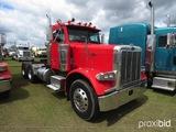 2002 Peterbilt 379 Truck Tractor, s/n 1XP5DU9X02N575172: Cat Eng., 10-sp.,