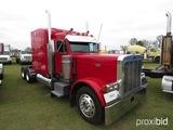 1999 Peterbilt 379 Truck Tractor, s/n 1XP5D69X2XN468448: Ext. Hood, 500hp N