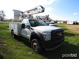 2011 Ford F450 Bucket Truck, s/n 1FDUF4GY1BEB42376: Auto, Odometer Shows 11