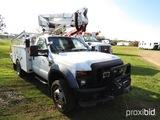 2008 Ford F550 Bucket Truck, s/n 1FDAF56R18ED17060: 6.4L Diesel, Altec AT37