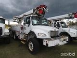 2007 Freightliner M2 Digger Derrick Truck, s/n 1FVHCYDC27HX27508: 6x6, T/A,
