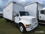 1995 International 4700 Van-body Truck, s/n 1HTSCACM1SH623798: S/A, Auto, 2