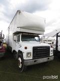 1984 International S1900 Box Van Truck, s/n 1HTLDUXP9EHA61034: DT466 Eng.