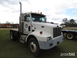 2001 Peterbilt 330 Flatbed Truck, s/n 2NPNHZ8X21M567375: S/A, Cummins 5.9L