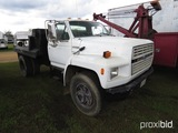 1992 Ford F700 Flatbed Truck, s/n 1FDNF70J1NVA34508: S/A, Gas Eng., Pintle
