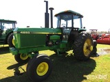 John Deere 4850 Tractor, s/n RW4850P009277: C/A, Rear Duals, 2wd, Meter Sho