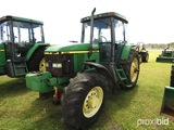 John Deere 7410 MFWD Tractor, s/n RW7410H026952: Encl. Cab, Power Quad, Fro