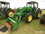 John Deere 7330 MFWD Tractor, s/n RW7330H025329: Cab, JD 940 Loader w/ Bkt.