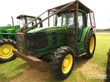 John Deere 7130 MFWD Tractor, s/n L07130H574718: C/A, Forestry Cage, Skid P