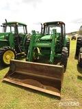 John Deere 6420 MFWD Tractor, s/n LV6420V324601: C/A, JD 640 Loader, Meter