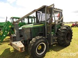 John Deere 6415 MFWD Tractor, s/n L06415A492778: Forestry Cab, Skid Plate,