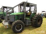 John Deere 6330 MFWD Tractor, s/n 659520L: Forestry Cab, Skid Plate, Meter