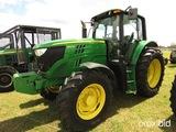 2014 John Deere 6140M MFWD Tractor, s/n 1L06140MAEH799652: Cab, Power Quad,