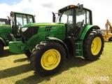 2014 John Deere 6140M MFWD Tractor, s/n 1L06140MAEH799728: Cab, Power Quad,