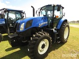 New Holland TS6.120 MFWD Tractor, s/n NT00764M: C/A, 3PH, PTO, Power Shuttl