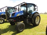 New Holland T6020 Tractor, s/n Z7BD01739: C/A, 2wd, Sweeps, Meter Shows 718