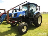 New Holland T6020 Tractor, s/n Z8BD01671: C/A, 2wd, Sweeps, Meter Shows 227