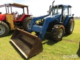 New Holland TS110 MFWD Tractor, s/n 144988BX618: C/A, 7511 Front Loader, 3P