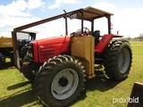 Massey Ferguson 6270 MFWD Tractor, s/n M251017: Diamond Side Mower, Meter S