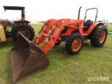 Kubota M8540 MFWD Tractor, s/n 50277: LA1353 Loader w/ Bkt., Meter Shows 16